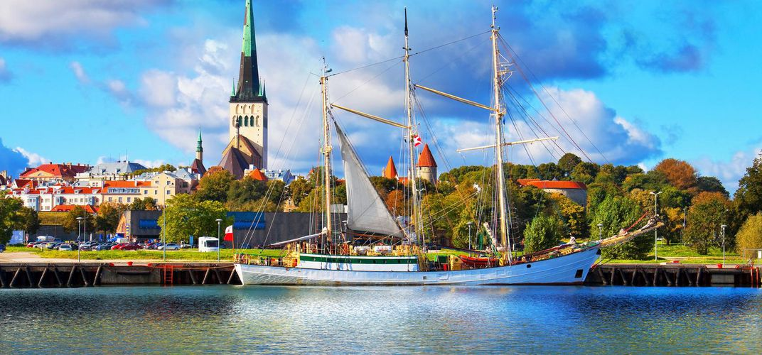 Port in Tallinn, Estonia