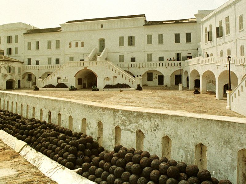 A slave fortress in Cape Coast, Ghana