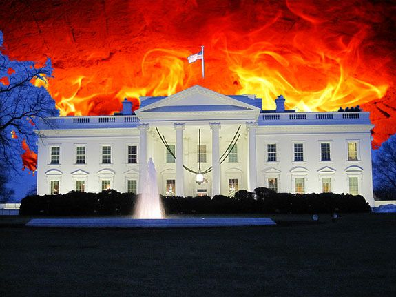 Artist's rendition of the Burning of Washington