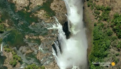 Stunning Aerial Footage of Victoria Falls