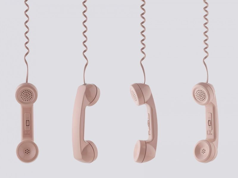 Pink Phone Receivers