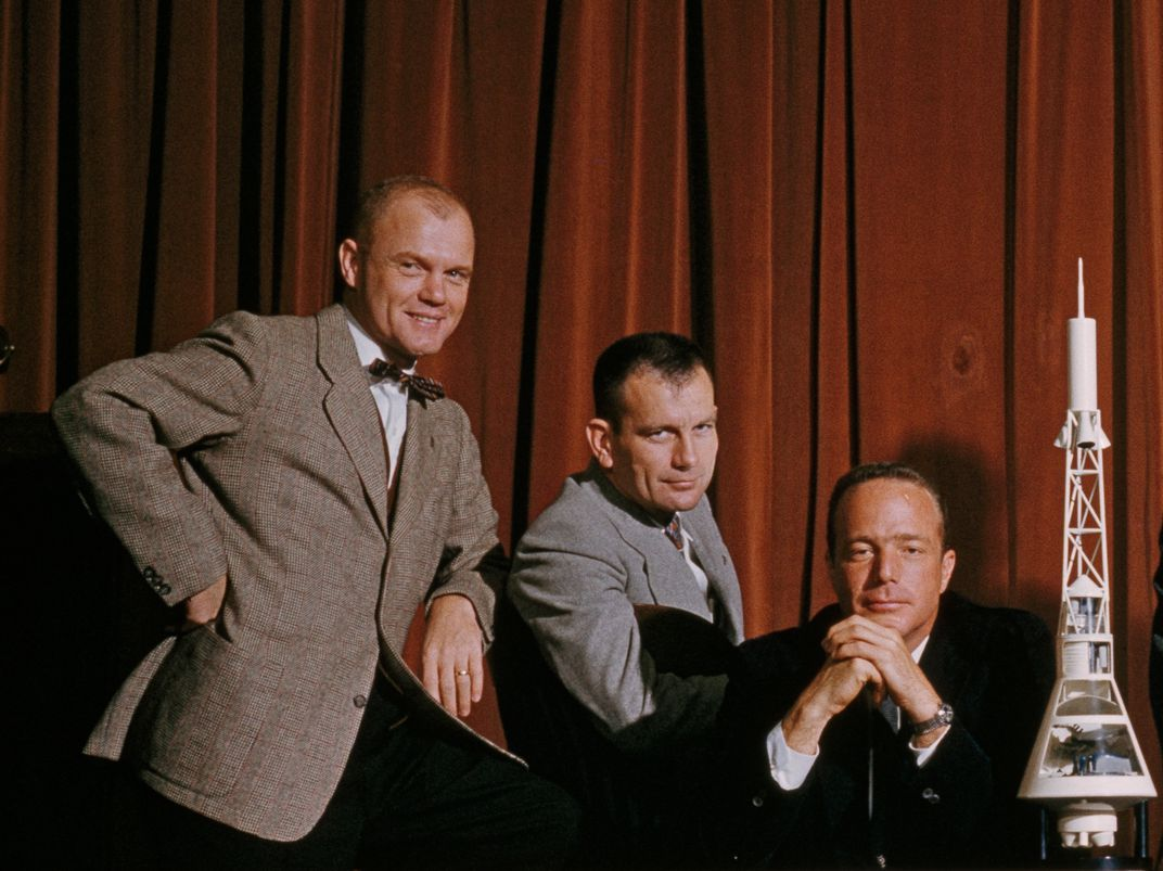Deke Slayton with John Glenn and Scott Carpenter