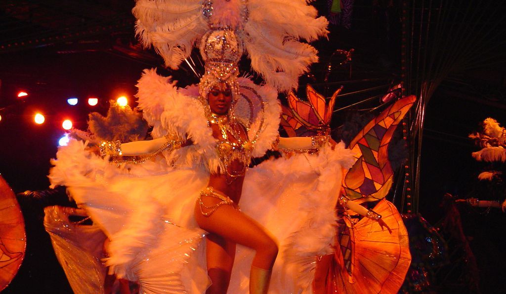 A dancer at the Tropicana cabaret.