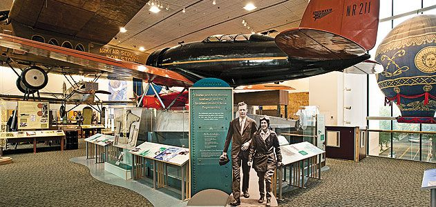 In the Museum's newly renovated Pioneers of Flight Gallery.