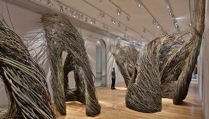 This Tilting, Twirling Artwork, Sculpted Entirely of Sticks, Is Having a Shindig