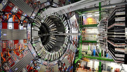 CERN large hadron collider in 2008