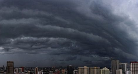 A storm rolls in above Bangkok