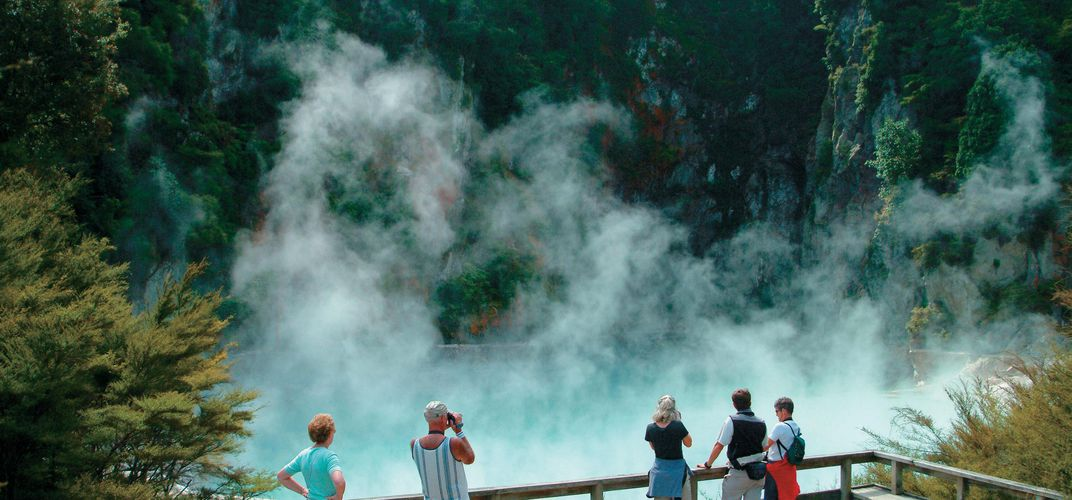 Geothermal area, Rotorua. Credit: Tourism New Zealand