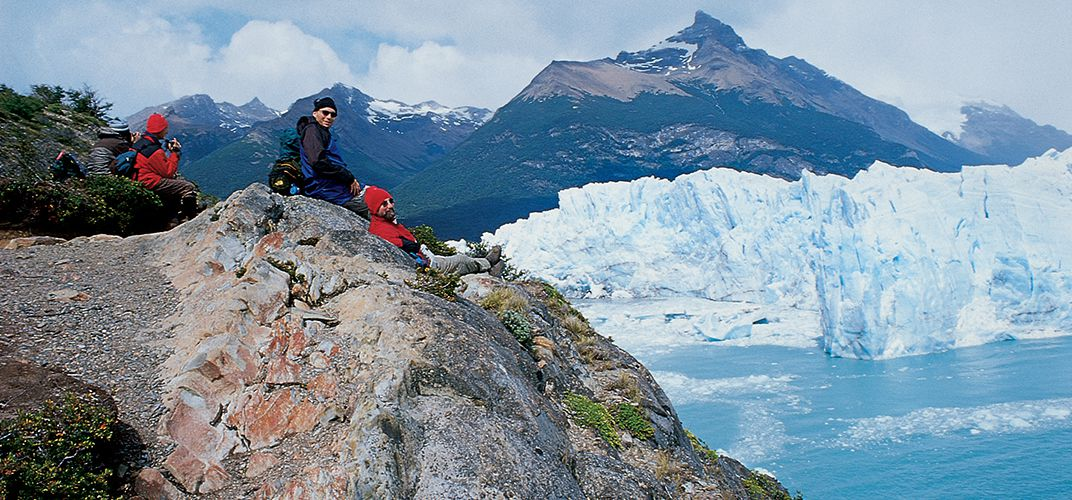 Taking a break at Perito Moreno, Los Glaciares National Park
