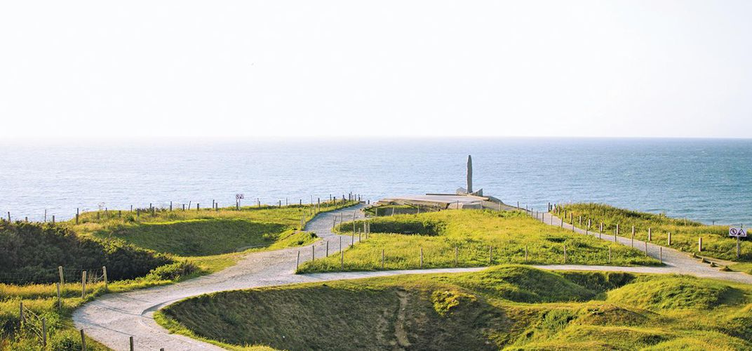 View of Pointe du Hoc