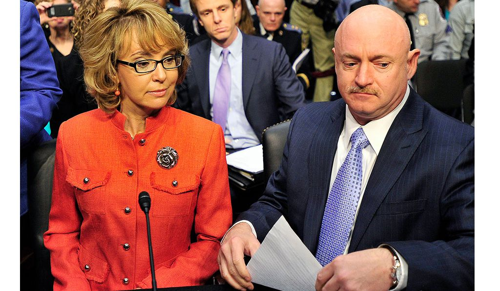 Since retiring from NASA three years ago, Mark Kelly has been running a political action committee with his wife, former Arizona Congresswoman Gabrielle Giffords, victim of a 2011 shooting. The two are shown here in 2013.
