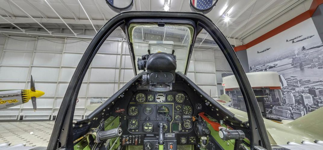 Caption: Climb Into the Cockpit of a P-51 In Our 360-Degree Panorama