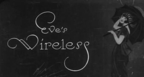 Title card from the 1922 short silent film