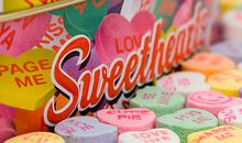 Valentines Day sweetheart candy