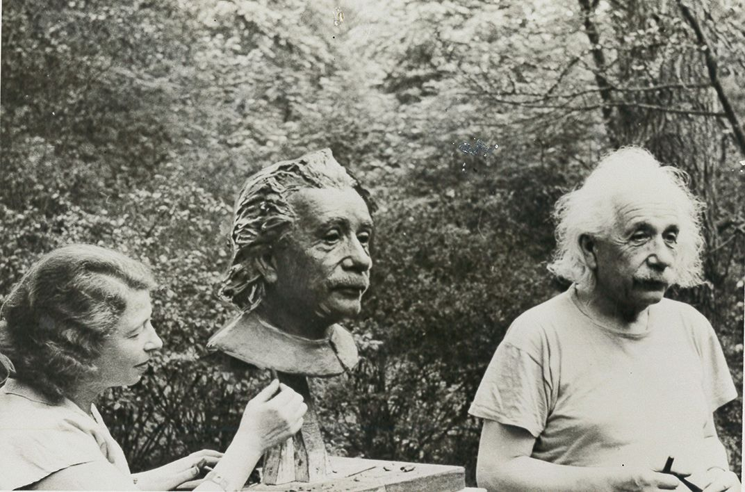 Albert Einstein and Sculptor Gina Plunguian1