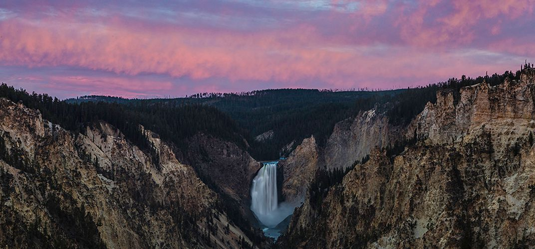 Yellowstone Falls. Credit: Leighton Lum