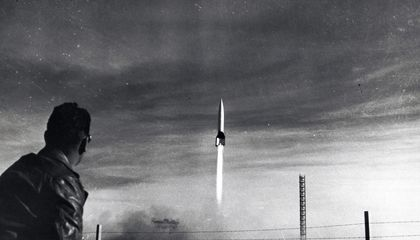 The First Launch of a V-2 Rocket From America