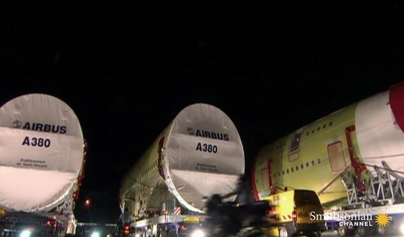 Preview thumbnail for video'Assembling the Humongous Airbus A380 Superjumbo
