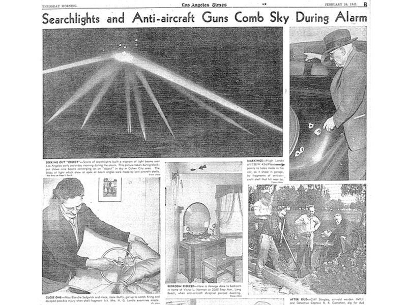 Page B of the February 26, 1942, Los Angeles Times