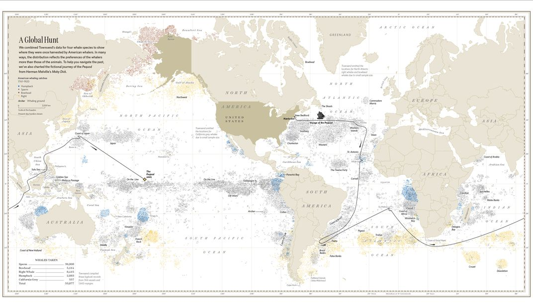 Explore the secret lives of animals with these marvelous maps each of the points on this map marks the death of a whale recorded in ship logbooks during the 18th and 19th centuries once prized for the meat and blubber gumiabroncs Images