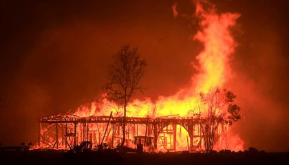 As Wildfires Rage Across California Wine Country, a Historical Structure Turns to Ash