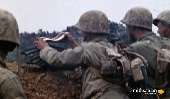 Preview thumbnail for video'U.S. Marines' First Test Against Japanese Defenses on Okinawa