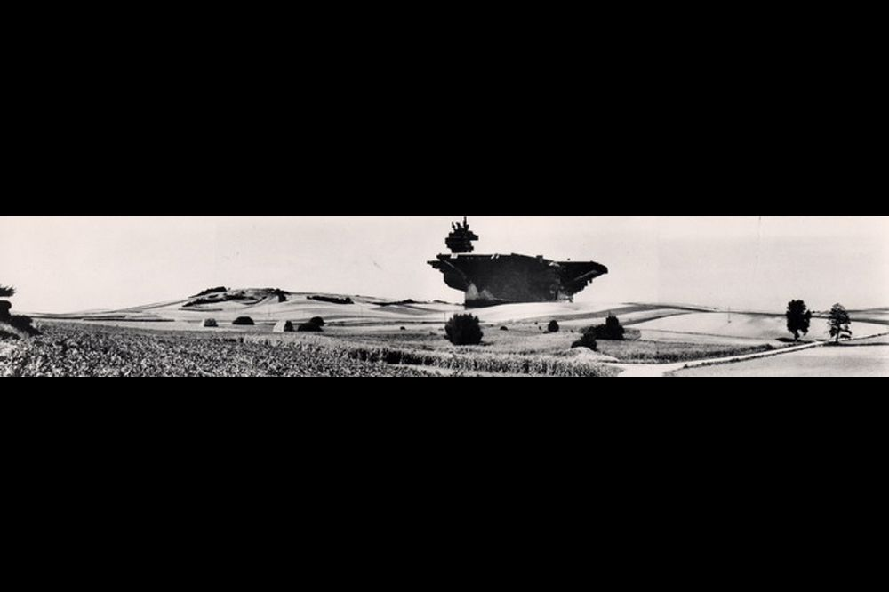 Aircraft Carrier City in the Landscape