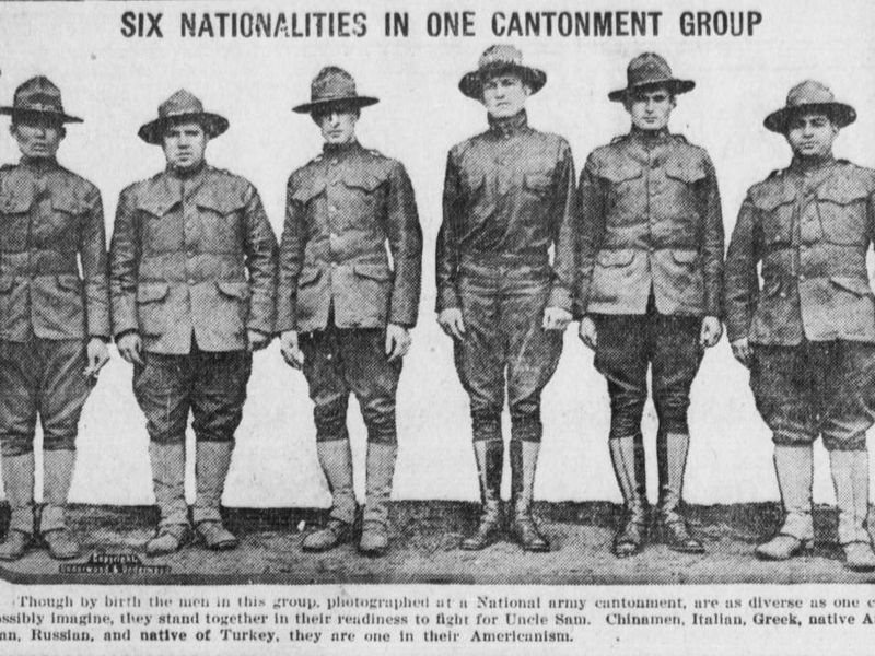 WWI-era newspaper photo