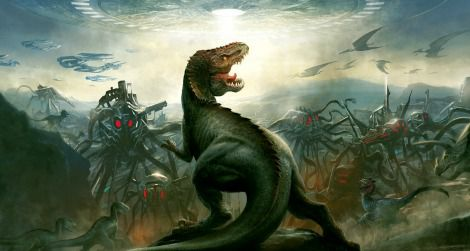 Dinosaurs vs aliens science smithsonian the cover art for dinosaurs vs aliens thecheapjerseys Choice Image