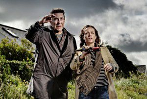 Ciarán Hinds and Kerry Condon in The Shore