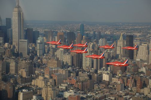 New York flight buffs are treated to a British invasion.