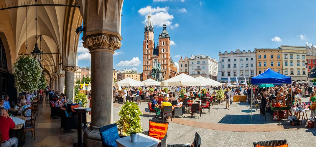 Kraków's engaging main square