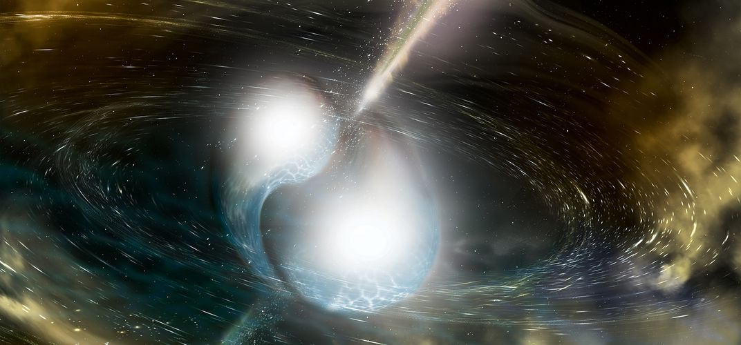Caption: Spotting the Collision of Two Neutron Stars