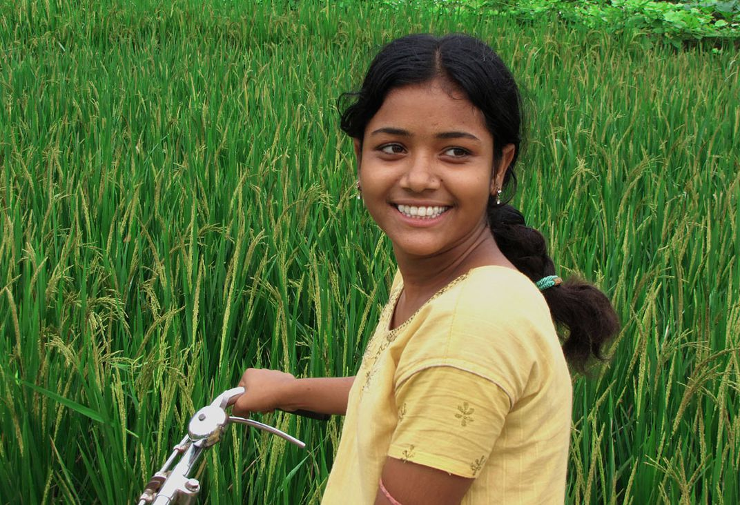 this is village girl of West Bengal, India  the photo