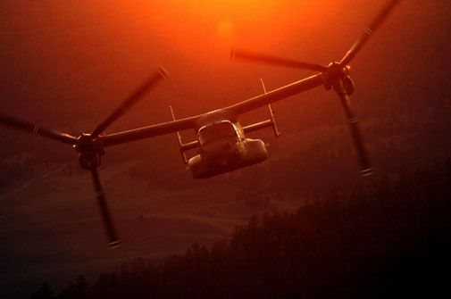 The V-22 will enter combat service later this year.