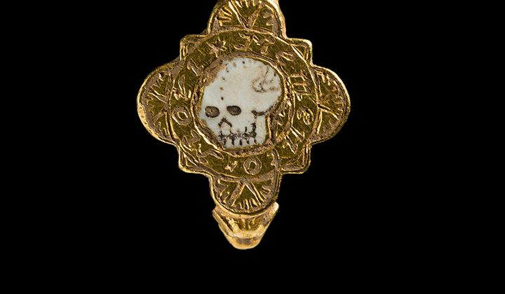 Medieval Gold Skull Ring Found in Wales