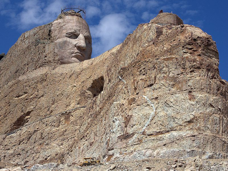 The Memorial to Crazy Horse Has Been Under Construction For