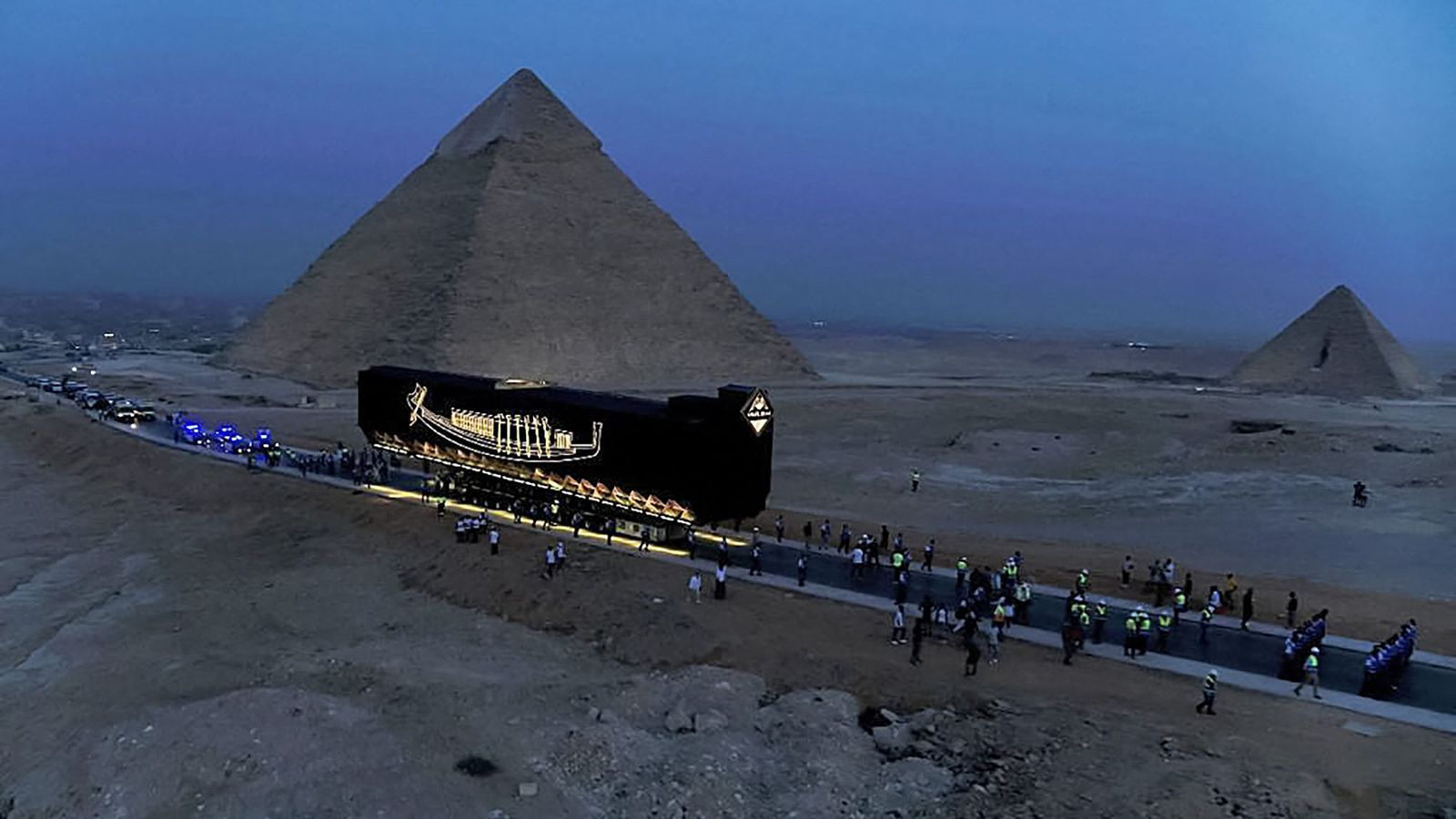 Last weekend, a 4,600-year-old ship once owned by the pharaoh Khufu traveled from its longtime home near the Pyramids of Giza to the Grand Egyptian Mu