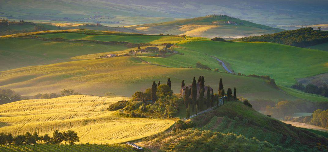 The ethereal landscape of Tuscany