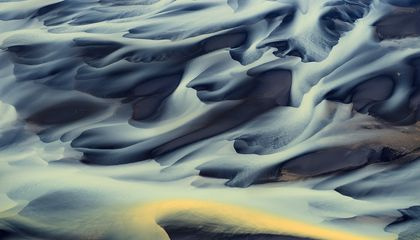 Aerial Views of Iceland's Volcanic Rivers