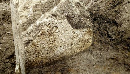 Rare Boundary Stone Dated to Emperor Claudius' Reign Unearthed in Rome
