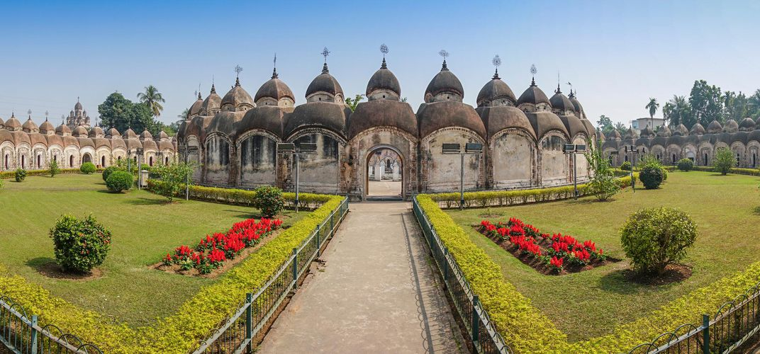 The temple at Kalna, on the Hooghly River
