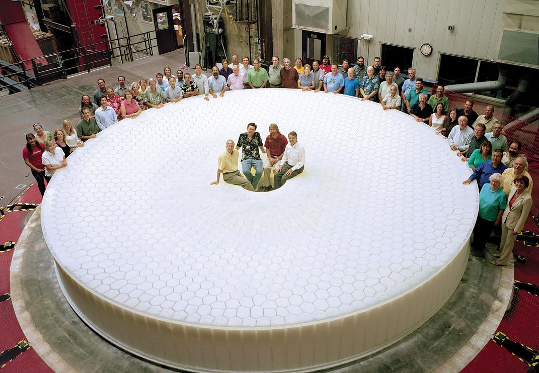 telescope's 27.5-foot mirror blank and LSST members