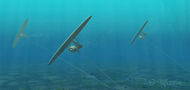 Underwater kite design by Minesto