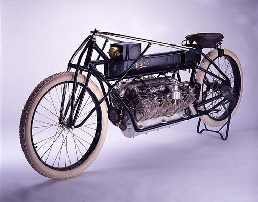 Adding an aircraft engine to his motorcycle made Glenn Curtiss the