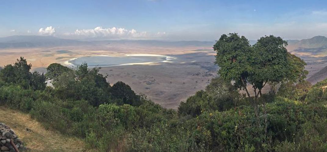 View of Ngorongoro Crater from the ridge. Credit: Kirt Kempter