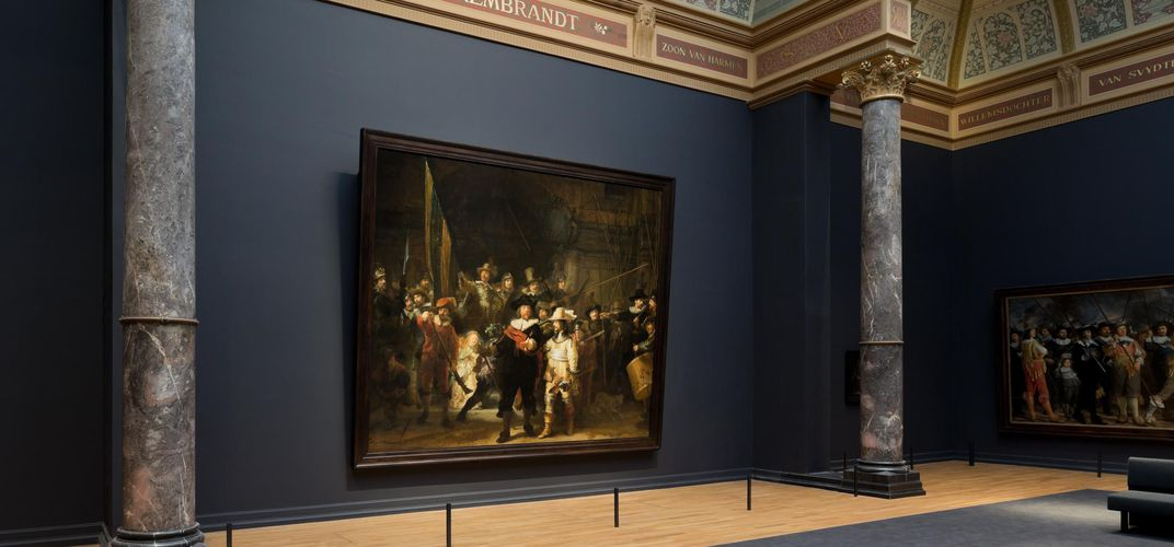 Rembrandt's <i>The Night Watch</i> at the Rijksmuseum. Credit: Netherlands Tourism Bureau