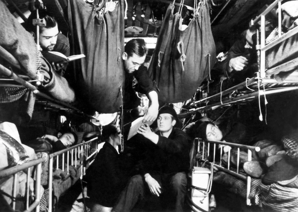 Cramped conditions aboard U-boats