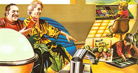 Christmas in the future as imagined in the 1981 book
