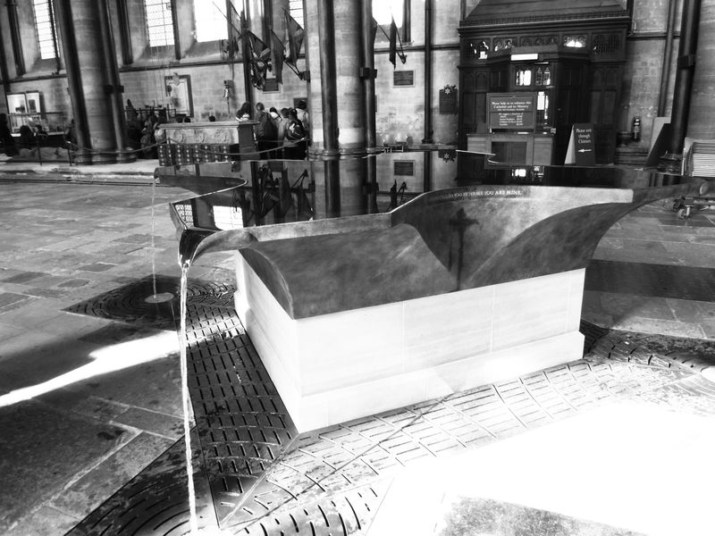 Baptismal font in Salisbury Cathedral   Smithsonian Photo ... Aperture Science Innovators Font